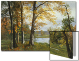 A Quiet Lake Poster by Albert Bierstadt