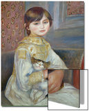 Portrait of Julie Manet or Little Girl with Cat Prints by Pierre-Auguste Renoir