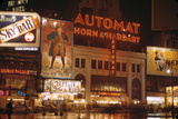 1945: Broadway and 42nd Street at Night in Front of Automat Horn and Hardart, New York, NY Photographic Print by Andreas Feininger