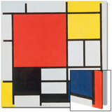 Composition with Red, Yellow, Blue and Black, 1921 Posters by Piet Mondrian