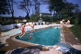 1959: Mrs. Wilbur S. Forrest's Pool in New Hope, Pa., a Treat for Her Eight Grandchildren Photographic Print by Frank Scherschel