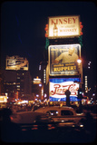 1945: Times Square at Night with Traffic and Lit Billboards, New York, Ny Photographic Print by Andreas Feininger