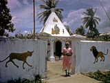 December 1946: a Hindu Temple on the Outskirts of Port Au Prince, Haiti Photographic Print by Eliot Elisofon