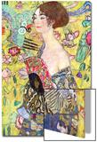Lady with a Fan, 1917-18 Poster by Gustav Klimt
