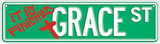 Grace Street Plakietka emaliowana