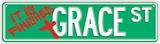 Grace Street Blechschild