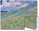 Champ de blésur fond demontagnes, 1889 Affiches par Vincent van Gogh