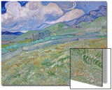 Wheatfield and Mountains, c.1889 Affischer av Vincent van Gogh