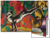 Three Cats, 1913 Prints by Franz Marc