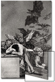 """The Sleep of Reason Produces Monsters, from """"Los Caprichos"""" Poster von Francisco de Goya"""