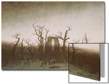 Abbey in the Oakwood, 1810 Posters by Caspar David Friedrich