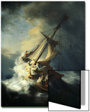 The Storm on the Sea of Galilee Posters by  Rembrandt van Rijn