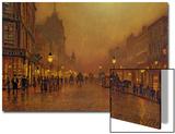 Una calle de noche Láminas por John Atkinson Grimshaw
