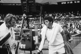 1971 Wimbledon: Australia's Rod Laver (L) and U.S.A Tom Gorman on Centre Court after their Match Photographic Print by Alfred Eisenstaedt