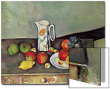 Still Life with Milkjug and Fruit, circa 1886-90 Art by Paul Cézanne