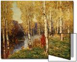 Birches Posters par Eugène Boudin