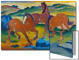Red Horses (Grazing Horses Iv.), 1911 Art by Franz Marc