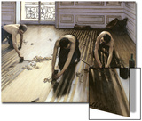 The Parquet Planers, 1875 Prints by Gustave Caillebotte