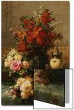 Still Life of Roses and Other Flowers Poster von Jean Baptiste Claude Robie