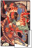 Miyamoto Musashi Killing a Giant Nue Art par Kuniyoshi Utagawa