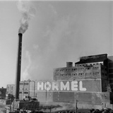 1946: Exterior of the Hormel Foods Corporation Meat Factory, Austin, Minnesota Photographic Print by Wallace Kirkland