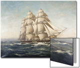 Uss Constitution Print by Myron Clark