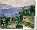 View of Mount Mareseilleveyre and the Isle of Maire, circa 1882-85 Poster by Paul Cézanne