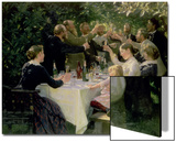 Hip Hip Hurrah! Artists' Party at Skagen, 1888 Prints by Peder Severin Kröyer