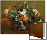 Flores Láminas por Eugene Delacroix