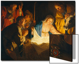 The Adoration of the Shepherds, 1622 Prints by Gerrit van Honthorst