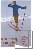 Wintersport in Graubunden, 1906 Poster par Walter Koch