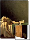 La mort de Marat, 1793 Posters par Jacques-Louis David