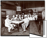 Chefs Eating Lunch at Sherry's Restaurant, New York, 1902 Posters by  Byron Company