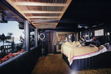 Floating-Home Owner Warren Owen Fonslor in His Bedroom, Sausalito, CA, 1971 Photographic Print by Michael Rougier