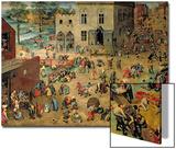 Children's Games (Kinderspiele), 1560 Kunstdrucke von Pieter Bruegel the Elder