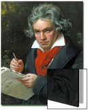 Ludwig Van Beethoven Composing His 'Missa Solemnis', 1820 Poster by Joseph Karl Stieler