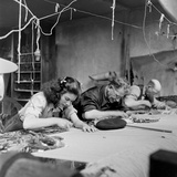 Workroom with Weft Threads to Create Tapestries, Aubusson, France, June 1946 Photographic Print by David Scherman