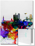 San Francisco Watercolor Skyline 1 Posters by  NaxArt