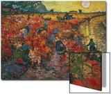 Den røde vingården i Arles, ca. 1888 Plakater av Vincent van Gogh