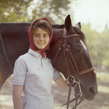 1960: American Dressage Rider, Patricia Galvin with Horse, Rath Patrick, 1960 Rome Olympic Games Photographic Print by George Silk