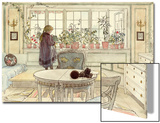 Flowers on the Windowsill, from 'A Home' Series, C.1895 Prints by Carl Larsson