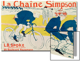 Poster for La Chaine Simpson, Bicycle Chains, 1896 Prints by Henri de Toulouse-Lautrec
