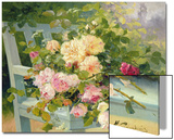 Roses on the Bench Prints by Eugene Henri Cauchois