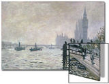 The Thames Below Westminster, 1871 Print by Claude Monet