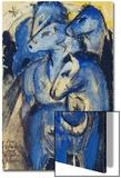 Tower of the Blue Horses, 1913 (Postcard to Else Lasker-Schueler) Art par Franz Marc