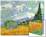 Wheatfield with Cypresses, 1889 Affiche par Vincent van Gogh
