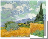 Wheatfield with Cypresses, 1889 Print by Vincent van Gogh