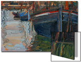 Boats Mirrored in the Water, 1908 Art by Egon Schiele