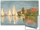 Regatta at Argenteuil, C.1872 Prints by Claude Monet