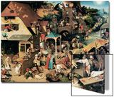 Netherlandish Proverbs, 1559 Kunst von Pieter Bruegel the Elder